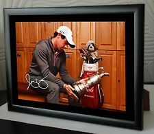 Rory Mcilroy Open Golf Hoylake Framed Canvas Portrait Signed In The Locker Room