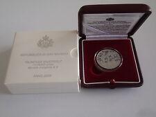 2005 Olympiade Turin Schneeflocke 5 Euro Silber PP San Marino proof Torino games