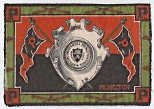 Large Vintage 1910 Princeton Tigers Baseball Pennant Felt Rug Tobacco Premium