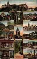 Feldpostkarte EISENACH Multi-Bild-Postkarte 1915 Feldpost gelaufen 1. Weltkrieg