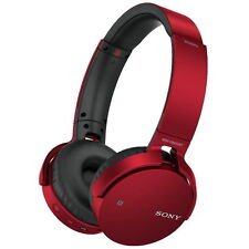 Sony MDR-XB650BT Extra Bass Bluetooth NFC Headphones %7c30 Hours Playback %7c Red