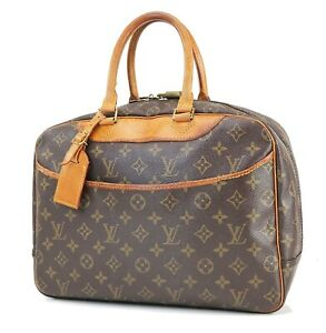 Authentic LOUIS VUITTON Deauville Monogram Hand Bag Purse #40923