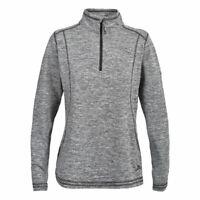 Trespass Vishwal Womens Active Lightweight Jumper Breathable Warm Grey Fleece