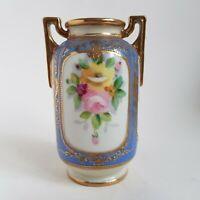 Vintage Hand Painted Noritake Vase Urn :A3