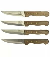 Chicago Cutlery Basics - Steak House Quality Knives-Carbon Stainless-Walnut 4pc