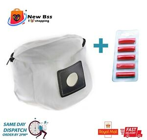 Reusable Zip Bag for Numatic Henry Hetty James Vacuum Cleaner + Air Freshener
