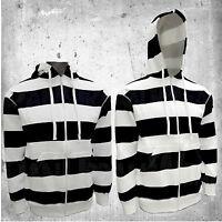 Mens/Womens Casual Urban Zip Up Stripe Hoodie Hoody Gym Sweatshirt Hooded S-2XL