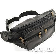 Unisex Leder Gürteltasche / Gürteltasche / Geldgürtel mit Viele Taschen