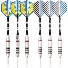 2 sets(6pcs) of Steel Tip Darts 23g Professional Dart Set Aluminium Dart Flights