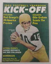 Kick-Off Football Yearbook Unitas Graham Brown 1962 Magazine J62740