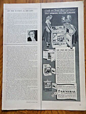 1953 Kitchen Appliance Ad 3 in 1 Cook on Refrigerator Stove Sink Combinations