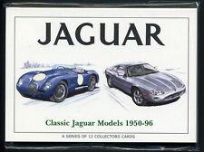 JAGUAR 1950-96 COLLEZIONISTI Card Set-C-Type XK140 XJ-S E-Type MKII XJ220 XK8 240