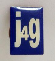 J4G Branding Pin Badge Rare Vintage (H10)