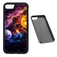 Fantasy Earth and Sun Universe RUBBER phone case Fits iPhone