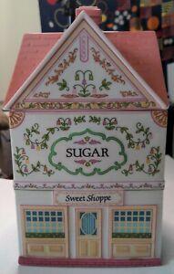 The Lenox Village Canisters Sugar Sweet Shoppe 1990 Porcelain House