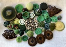 New listing Vintage 41 Buttons Mixed Lot Gorgeous Garden Green 🟢