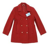 Marks & Spencer Womens Size 8 Wool Blend Red Peacoat
