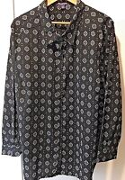 Blouse Shirt by Roamans, Womens Size 28W, Lightweight, Black & White Career NWOT