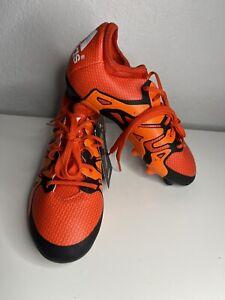 Adidas X 15.1 FG/AG  Soccer Cleats Orange/Black B32780 Youth Sz 1