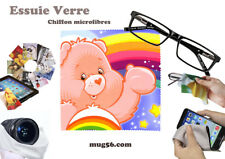 bisounours care bears 01-06 essuie verre chiffon microfibres lunettes, téléphone