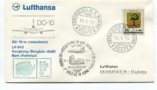 FFC 1974 Lufthansa First Flight LH 643 DC-10 HongKong Bangkok Delhi Frankfurt