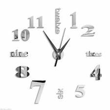 3D Large Wall Clock Mirror Sticker Big Watch Sticker Home Decor Unique Gift S3L9