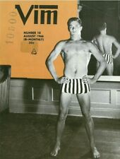 Vim No.18 August 1966 w/Bulletin 36, Vintage Male Beefcake Magazine, Rare