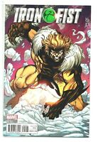 Iron Fist #5 (2017 Marvel) Jim Lee Sabretooth X-Men Variant Editon Cover  NM