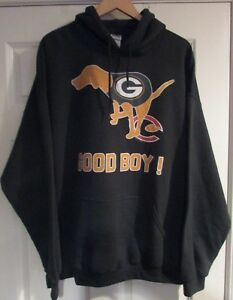 NFL Green Bay Packers Hoodie Sweatshirt 2XL Dog Poop on Chicago Bears GOOD BOY!