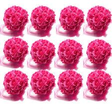 "New 12/14cm 5"" flower Kissing Ball rose Pomander Wedding Party Decoration Red"