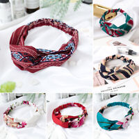 1PC Woman Girls Turban Head Wrap Headband Twisted Knotted Hair Band Decor