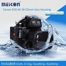 Waterproof Underwater Camera Housing Case for Canon EOS-M EOS M 18-55mm Lens