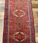 """2'3""""x10' Authentic Handmade wool Herizz Karajeh Oriental vintage rug runner"""