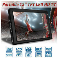 12'' LCD TFT LED HD TV DVB-T2 Television Car Digital Analog 12V HDMI VGA Monitor