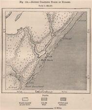 DOPPIA costa a nord di lag badana Parco Nazionale (bushbush). MAPPA SOMALIA 1885