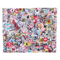 50x75cm Car Cartoon Rock Panda Graffiti Bomb Sticker Wrap Sheet Roll Decals Film