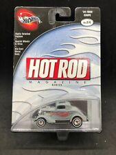 Hot Wheels 2002 '40 Ford Coupe Gray Hot Rod  Mag. Rare HTF New Real Riders 100%