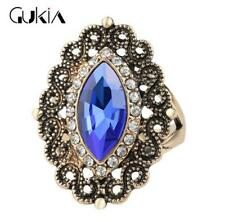 NEW Luxury Men's Woman Gold Inlaid multicolor Stone Crystal Female Ring Size 9