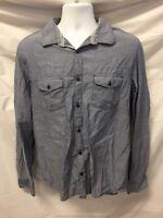 Calvin Klein Men's Long Sleeve Button Down Shirt Sz L Hipster