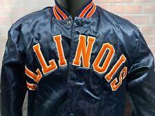 Fighting ILLINI Illinois Vintage Satin Stadium Jacket Men's Size S