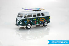 1962 Volkswagen Classical Bus 1:32 scale Die Cast model Kombi + surfboard green