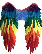 Yummy Bee Wings Feather Multi Colour Fancy Dress Costume Party Pride Carnival PA