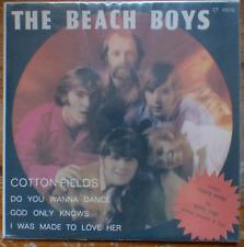 "THE BEACH BOYS- cotton fields+ 3 - rare israeli 1 st. pressing 7"" EP P/S -NM."