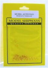 Model Shipways Fittings MS 0954 Split Rings, Brass 3/16'' (5mm) 40/pack. NEW