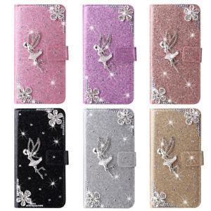 Diamond Angel Flip Wallet Phone Case For iPhone 11 12 13 Pro Max XR 5 6 7 8 SE