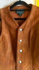 Ralph Lauren COUNTRY Suede Leather Corcho Southwest Western Cowboy Vest Italy