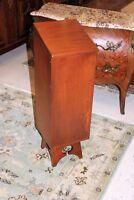 English Antique Mahogany Arts & Crafts Baguette Bread Box