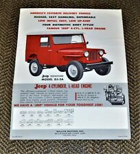 VTG 1960 Advertising Willys Overland Jeep Dispatcher DJ-3A Brochure