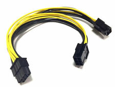8Pin Male to Dual 2x 6Pin female Extension Power Cable 20cm