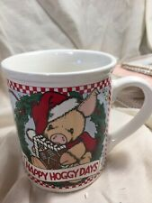 New listing This Little Piggy- Happy Hoggy Days- Christmas Mug- 1997-Htf